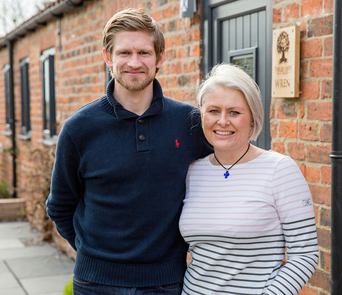 Claire & James, Owners of Thrush Nest Luxury Holiday Cottages (York)