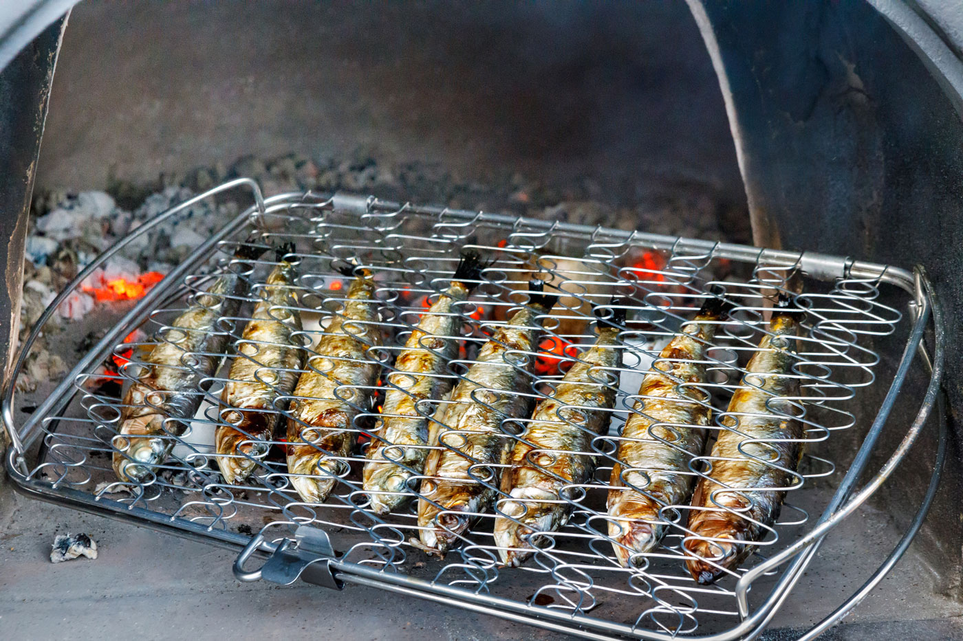 Barbecued Sardines with Salsa Verde