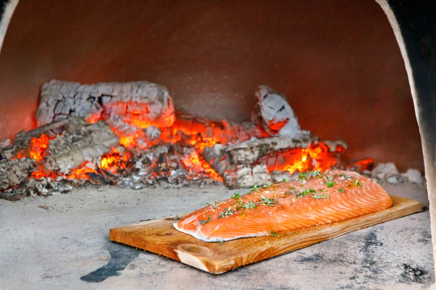Cedar Plank Salmon with Cajun Rub