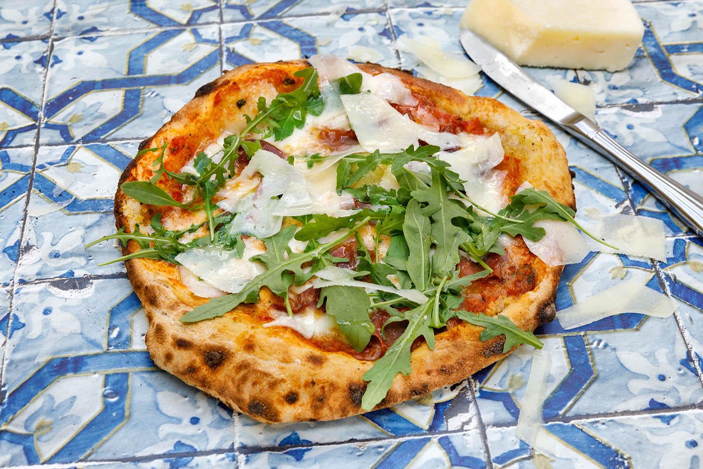 Prosciutto, Truffle and Pecorino Pizza