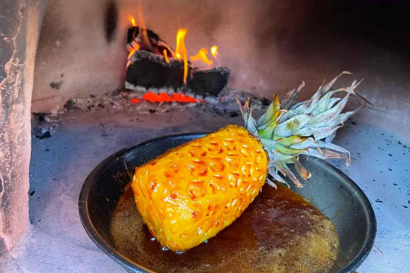 Roast Whole Pineapple in Rum Caramel